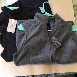 Land's End Fleece Vests - Set of 2